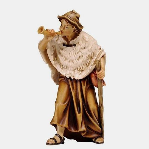 Handbemalte Kostner 078 Krippenfigur Hirte mit Horn
