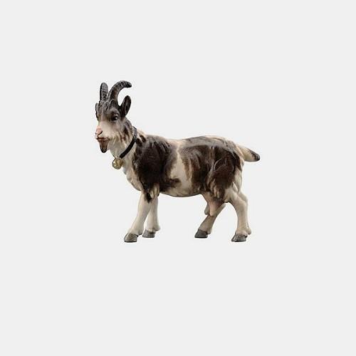 Handbemalte Kostner 197 Krippenfigur Ziege mit Glöckchen linksschauend