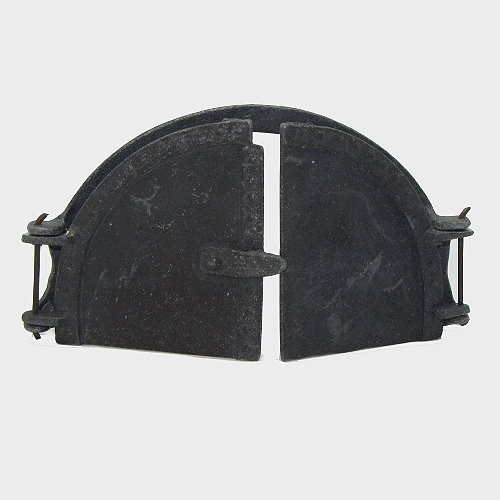 Backhaustür mit Rahmen aus Zinn