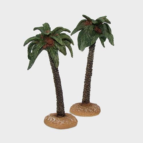 Krippenzubehör aus Kunstharz Palmenset