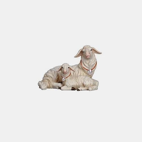 Mahlknecht 272 Krippenfigur Schaf liegend mit Lamm