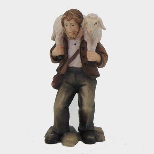 Mahlknecht 019 Hirte mit Schaf auf Schulter