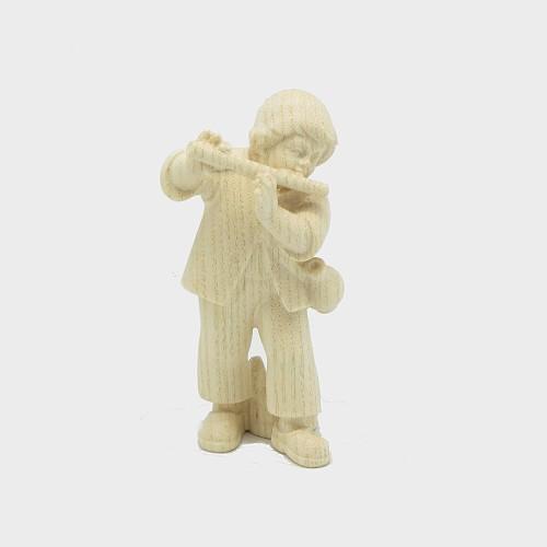 PEMA 016 natur Krippenfigur Bub mit Flöte