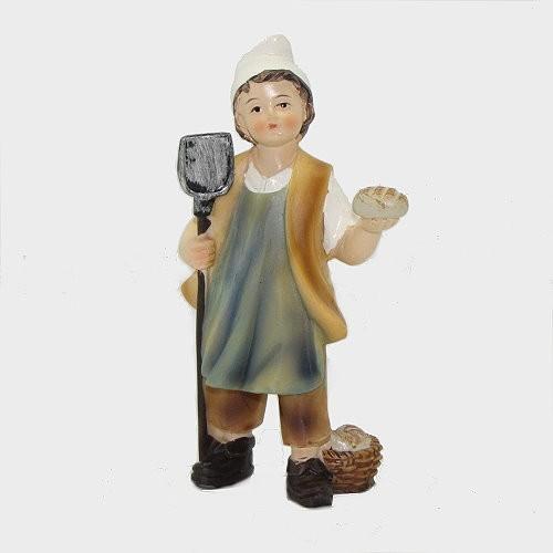 Krippenfigur Bäckerjunge