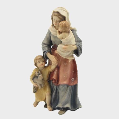 Mahlknecht 027 Krippenfigur Hirtin mit Kinder