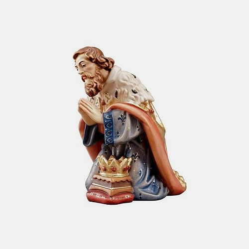 Handbemalte Kostner 008 Krippenfigur König kniend