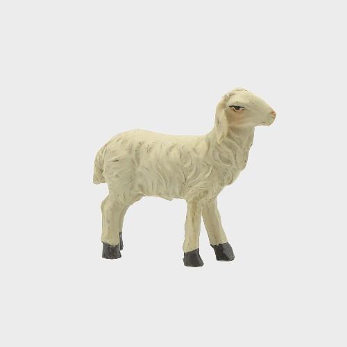 Krippenfigur Schaf vorwärtsschauend