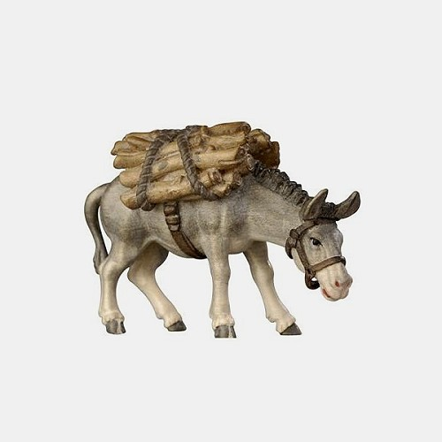 Mahlknecht 185 Krippenfigur Esel mit Holz