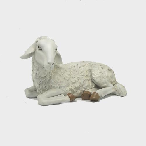 Krippenfigur Schaf liegend