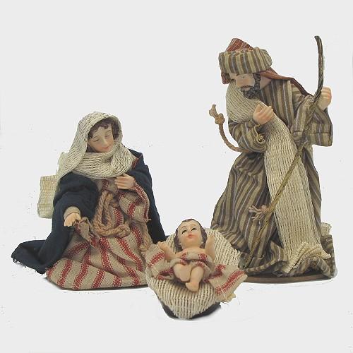 Krippenfiguren orientalisch bekleidet Hl. Familie 13cm