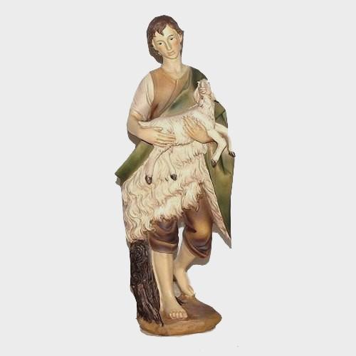 Krippenfigur Hirte mit Schaf 40cm