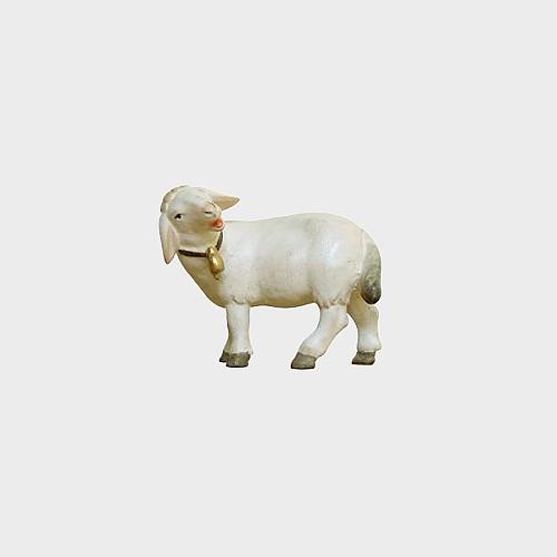 PEMA 265 Krippenfigur Schaf stehend mit Glocke linksschauend