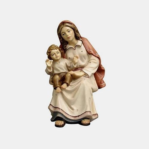 Mahlknecht 079 Krippenfigur Hirtin sitzend mit Kind