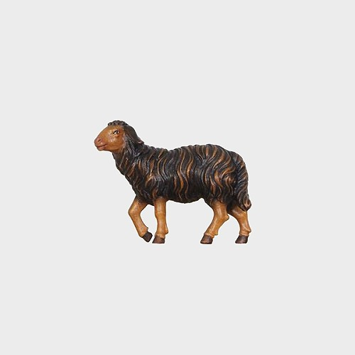 Mahlknecht 259S Krippenfigur Schaf schwarz stehend Kopf hoch