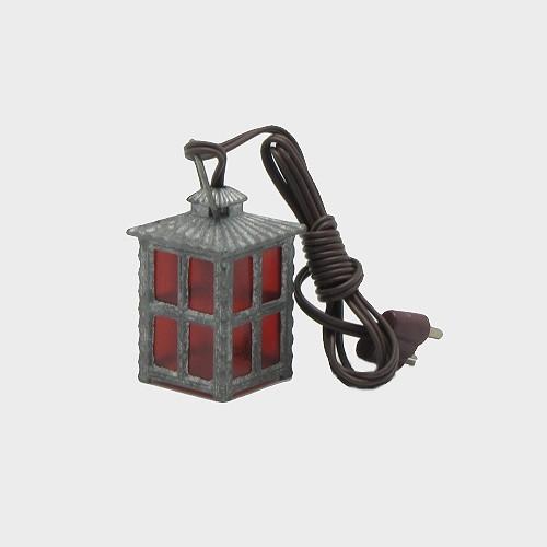 Krippenbeleuchtung Laterne aus Metall rot