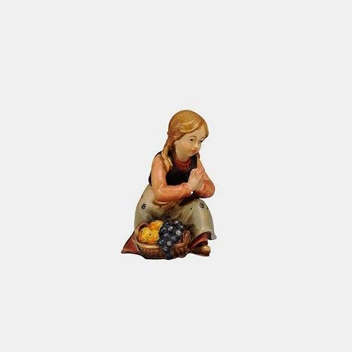 Handbemalte Kostner 028 Krippenfigur Mädchen kniend