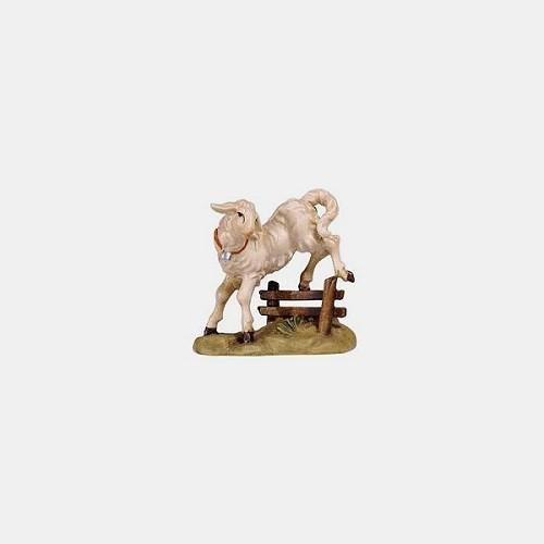 Handbemalte Kostner 284 Krippenfigur Lamm springend
