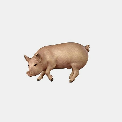 Handbemalte Kostner 105 Krippenfigur Schwein