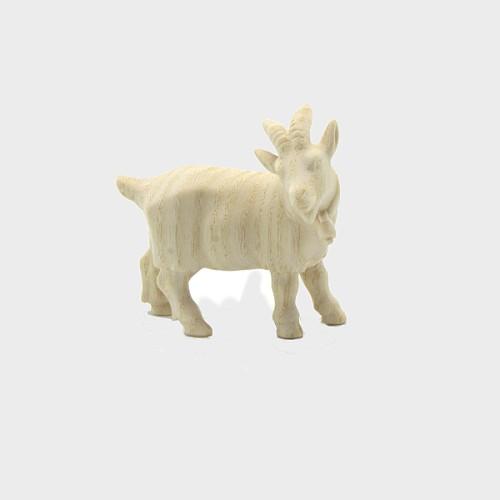 PEMA 215 natur Krippenfigur Ziege mit Glöcken rechtsschauend