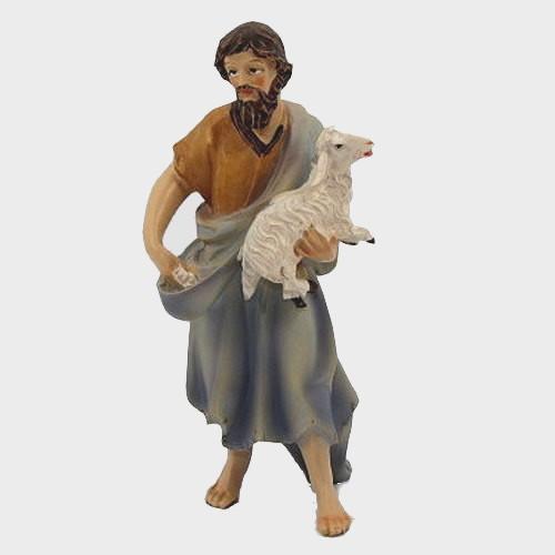 Krippenfigur Schäfer mit Schaf