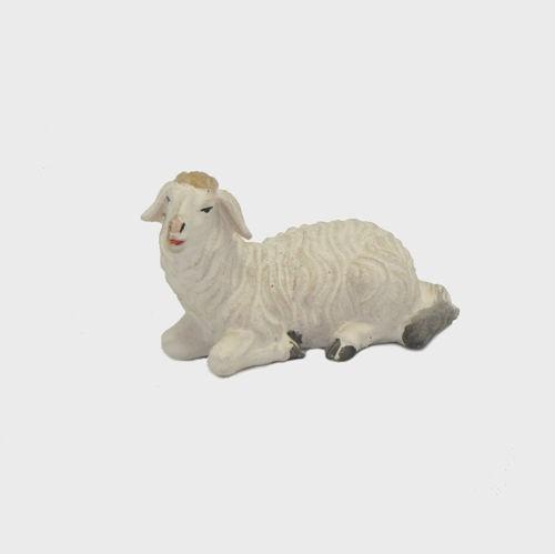 Zirbel 252 Schaf liegend linksschauend