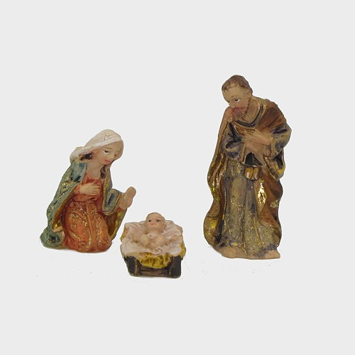 Krippenfiguren aus Kunstharz Hl. Familie