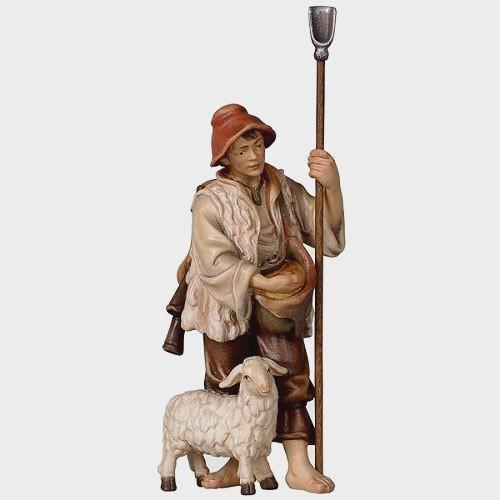 Rainell 033 Krippenfigur Schäfer mit Schaf