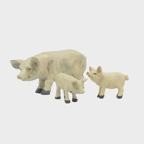 Krippenfiguren Hausschweine