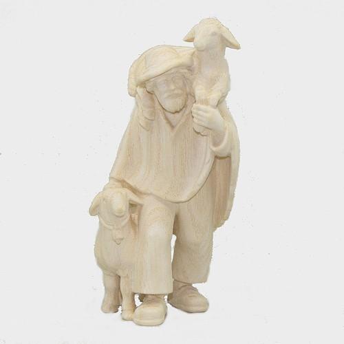 PEMA N046 Hirte mit zwei Schafe natur