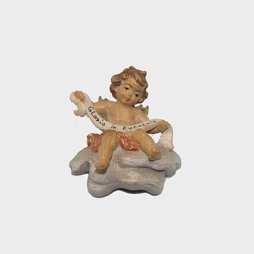 Zirbel 008 Krippenfigur Engel mit Schleife