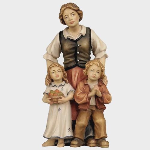 Rainell 083 Krippenfigur Hirtin mit 2 Kinder