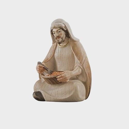 PEMA 043 Krippenfigur Hirte sitzend, essend