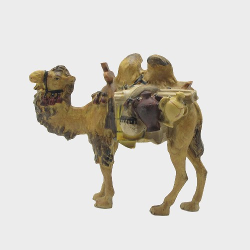 Krippenfigur Kamel mit Gepäck