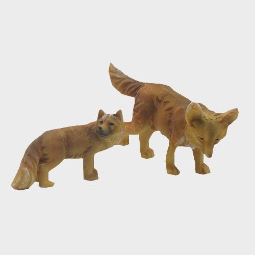 Krippenfiguren Fuchspaar