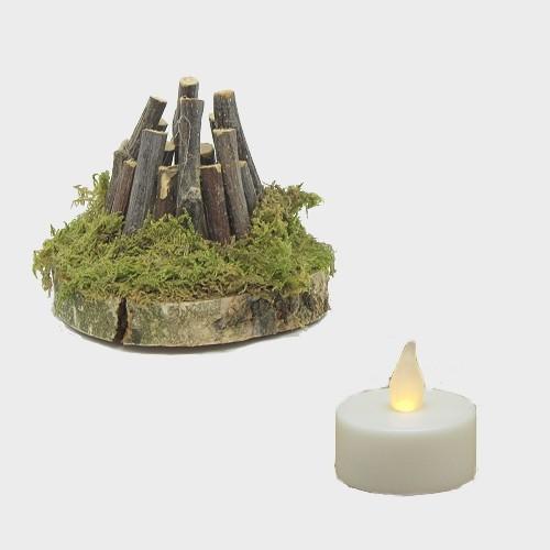Krippenzubehör Feuerstelle mit LED