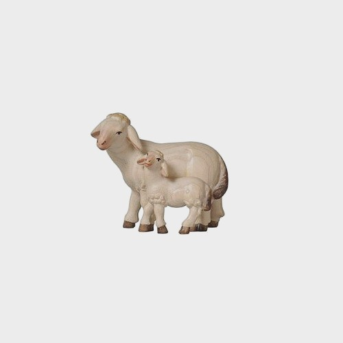 PEMA 279 Krippenfigur Schaf mit Lamm stehen