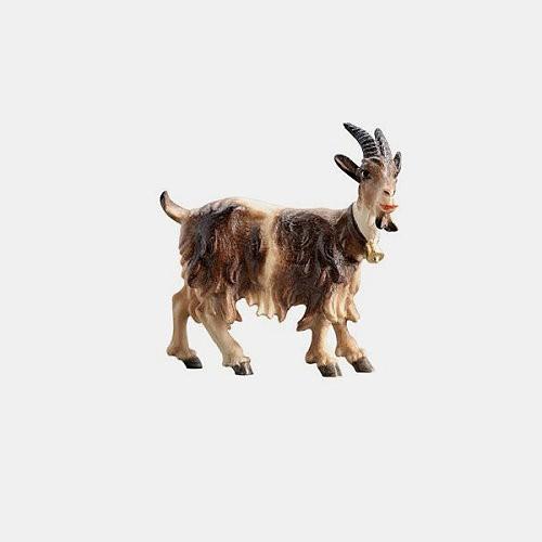 Handbemalte Kostner 215 Krippenfigur Ziege mit Glöckchen rechtsschauend