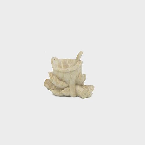 PEMA 098 natur Krippenfigur Lagerfeuer mit Topf