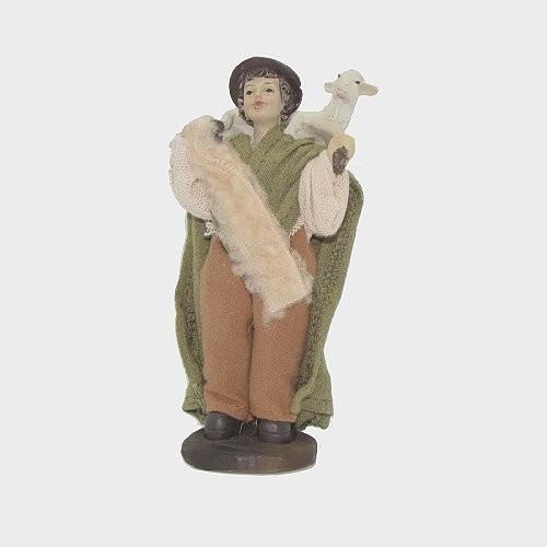 Krippen Bauern Krippenfiguren Hirte mit Schaf und Hund für Figuren Größe ca.8cm