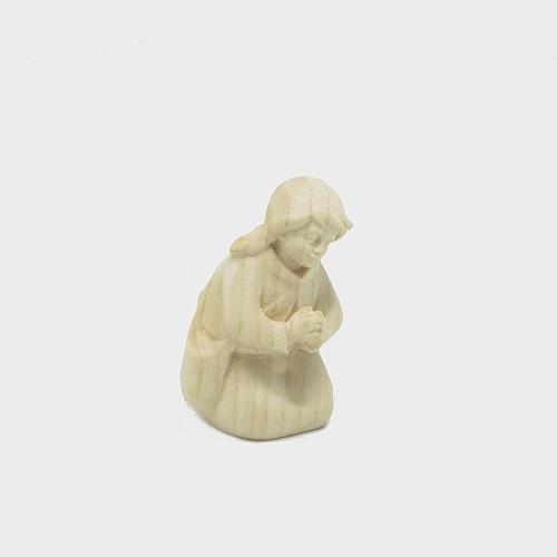 PEMA 020 natur Krippenfigur Mädchen kniend