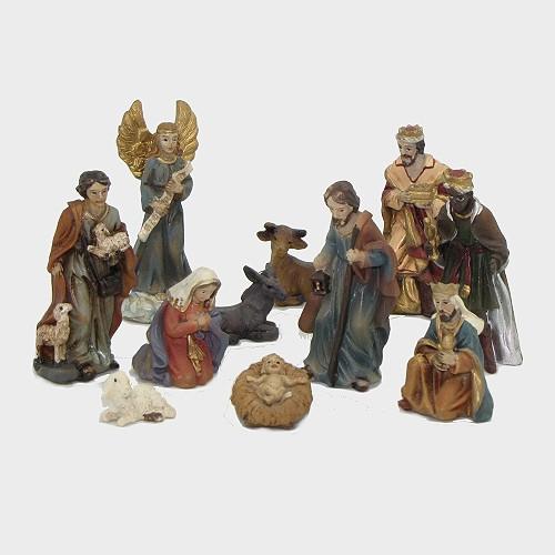 Krippenfiguren aus Kunstharz 11tlg. 5cm