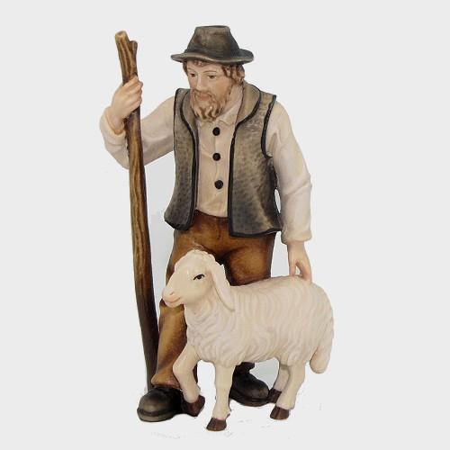Mahlknecht 033 Hirte mit Schaf und Stock