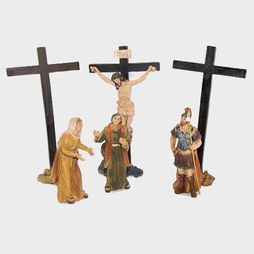 Passionsfiguren Kreuzigung 9cm