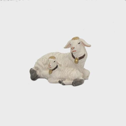 Zirbel 272 Schaf liegend mit Lamm