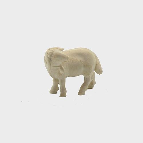 PEMA 265 natur Krippenfigur Schaf stehend mit Glocke linksschauend
