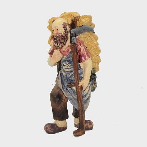 Krippenfigur Almbauer mit Kraxn