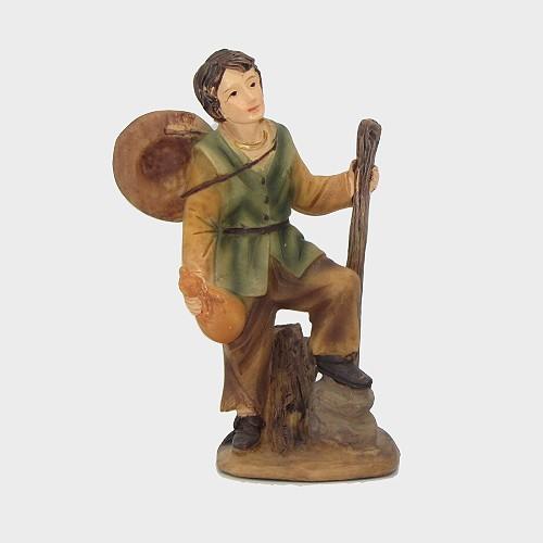 Krippenfigur Wanderer mit Stock