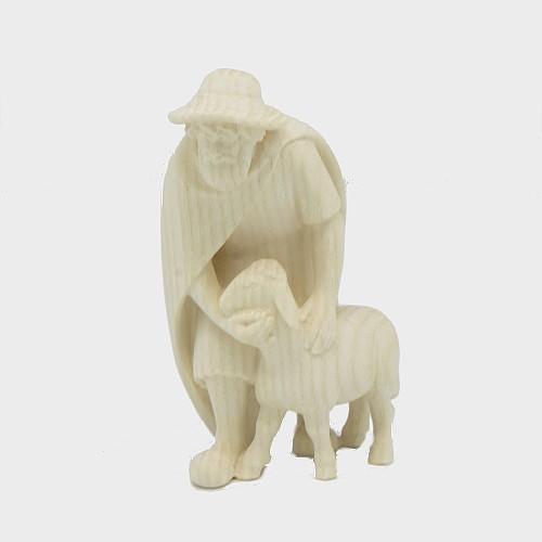 PEMA 015 natur Krippenfigur Hirte mit Schaf