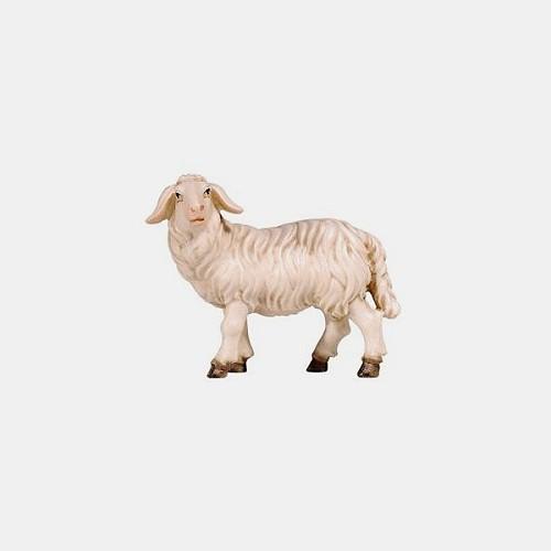 Handbemalte Kostner 261 Krippenfigur Schaf stehend linksschauend