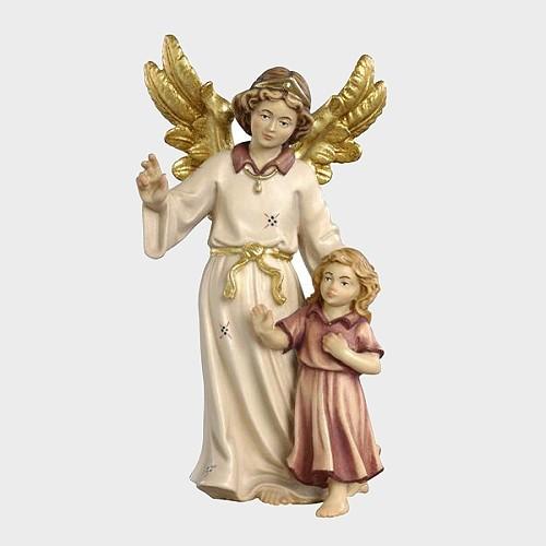 Kostner 070 Krippenfigur Schutzengel mit Mädchen